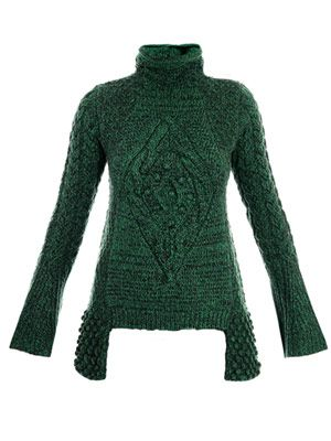 Chunky aran knit sweater