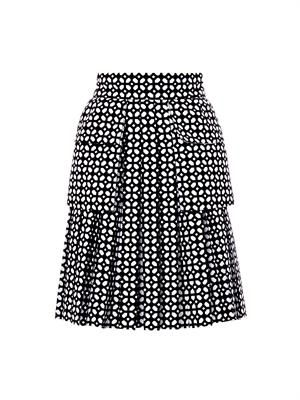 Bonded laser-cut cotton skirt