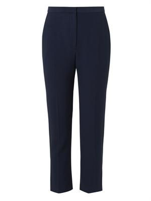 Leaf-crepe tailored trousers