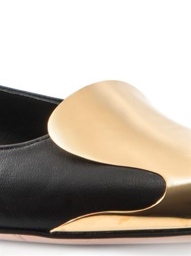 Alexander McQueen Metal toe-cap flats