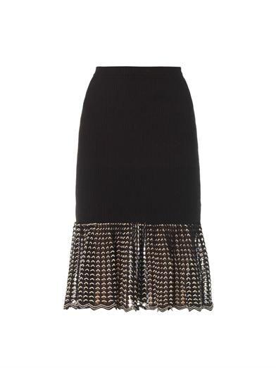 Alexander McQueen Open-lace hem skirt