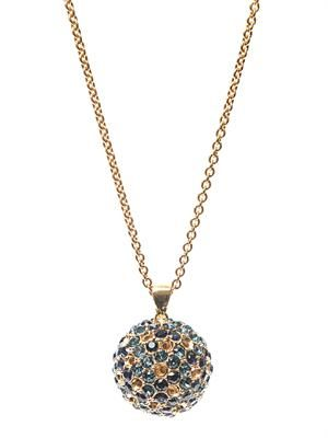 Crystal-embellished ball necklace