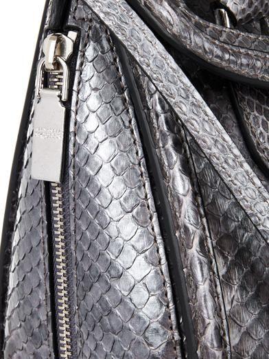 Alexander McQueen Heroine mini python tote