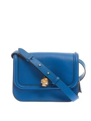 Padlock leather cross-body bag