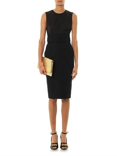 Alexander McQueen Contrast-panel sleeveless dress