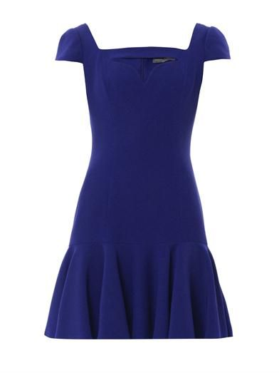 Alexander McQueen Cut-out sweetheart neckline dress