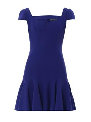 Cut-out sweetheart neckline dress