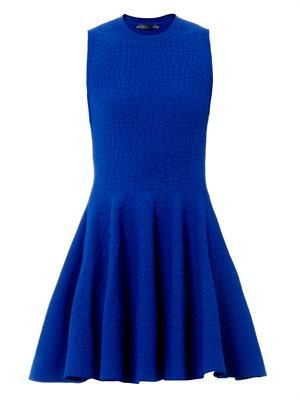 Jacquard stretch-knit dress