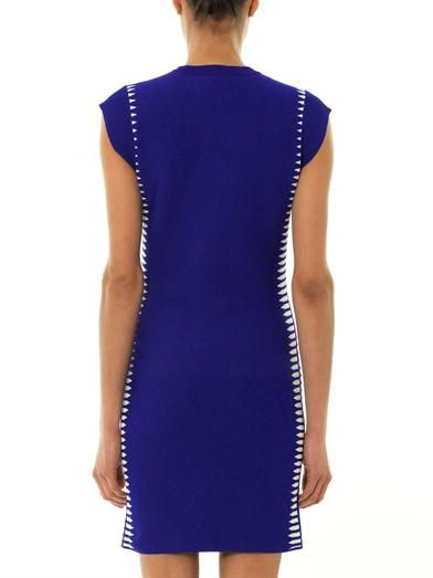 Alexander McQueen Spine jacquard-knit dress
