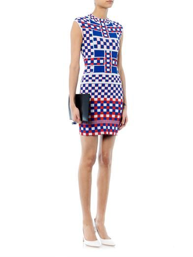 Alexander McQueen Graphic jacquard-knit dress