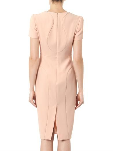 Alexander McQueen Leaf-crepe dress