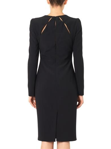 Alexander McQueen Panelled leaf-crepe dress