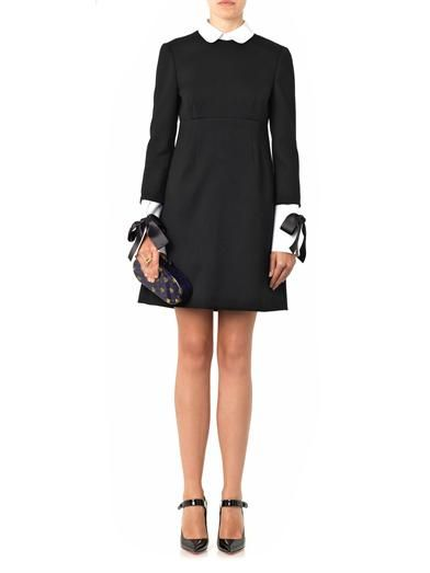 Alexander McQueen Collar and cuff-trimmed dress