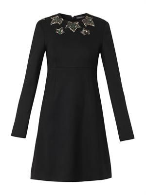 Ivy crystal-embellished shift dress