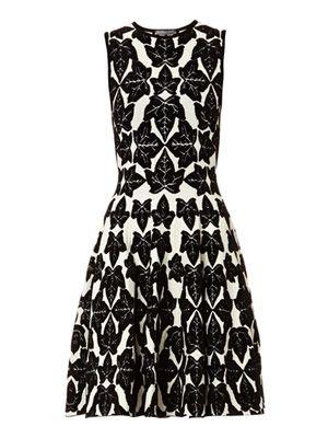 Ivy flocked stretch-knit dress