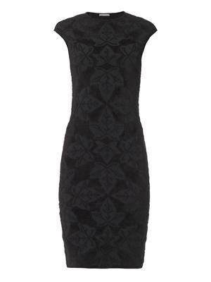 Ivy-jacquard knit dress