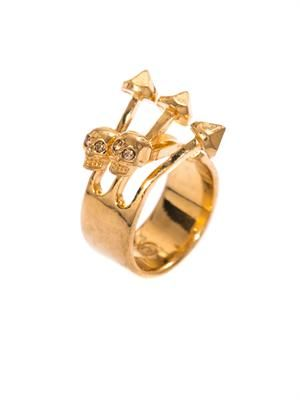 Contrarie skull arrow ring