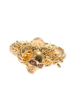 Skull and rope ring