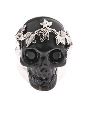 Ivy skull ring