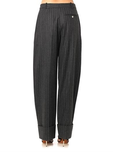 Alexander McQueen Pinstripe wool tailored trousers