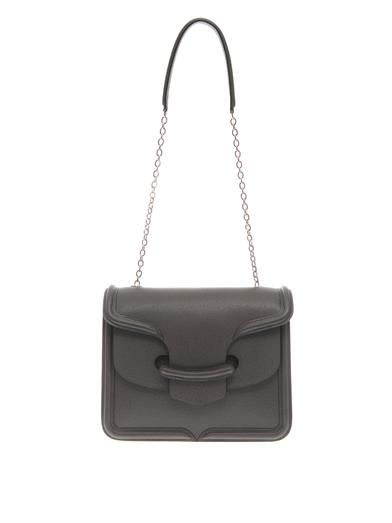 Alexander McQueen Heroine textured-leather shoulder bag