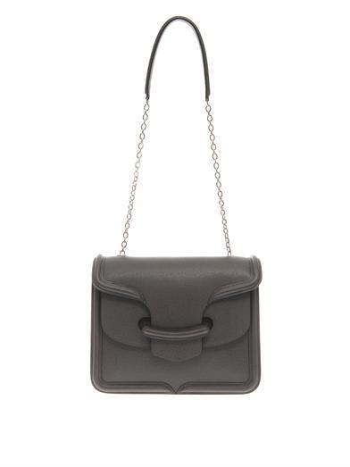 Alexander McQueen Heroine textured-leather shoulder bag