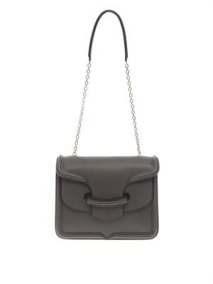 Heroine textured-leather shoulder bag
