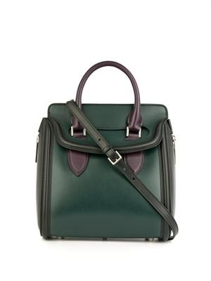 Heroine small tri-colour leather tote