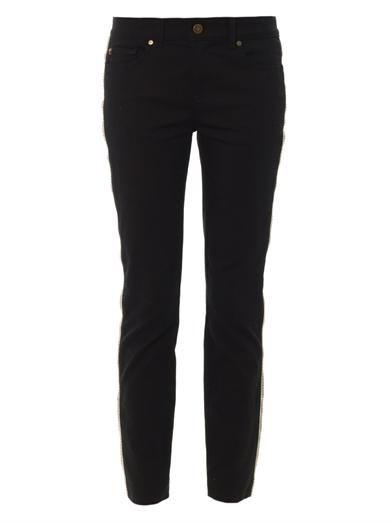 Alexander McQueen Zip trimmed mid-rise skinny jeans