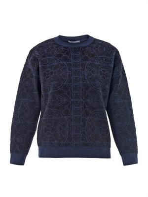 Stained-glass jacquard sweatshirt