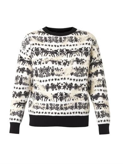 Alexander McQueen Unicorn Fair Isle-jacquard sweater