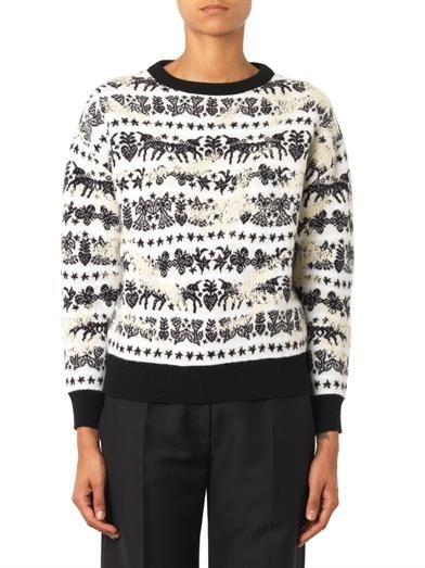Alexander McQueen Unicorn Fair Isle-jacquard sweater