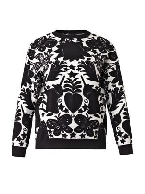 Naive Pagan-jacquard sweater