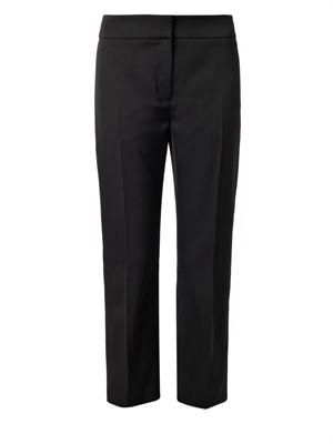Cropped tailored wool trousers