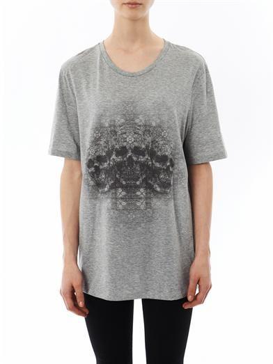 Alexander McQueen Skull-print boyfriend T-shirt