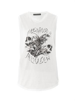 Rock skull-print top
