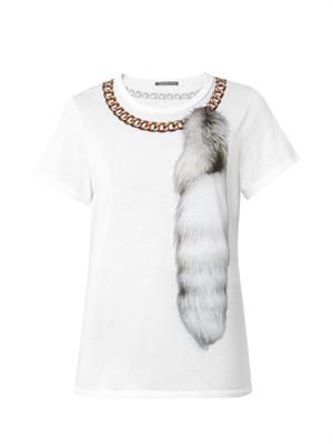 Fox and chain-print T-shirt