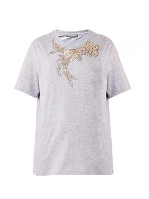 Iris embellished T-shirt