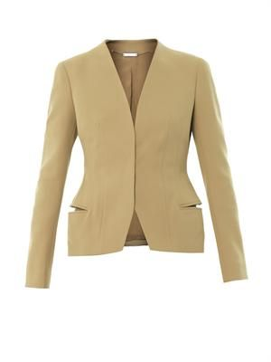 Tailored cotton-twill jacket