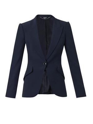 Leaf-crepe tailored jacket