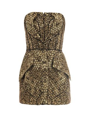 Honeycomb jacquard strapless top