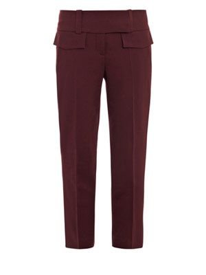 Cropped crepe trousers