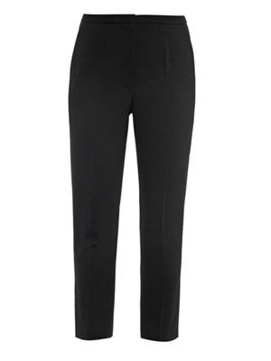 Wool-crepe trousers