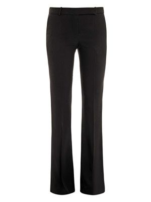 Leaf crepe bootcut trousers