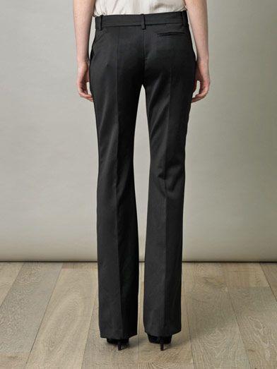 Alexander McQueen Satin stripe tuxedo trousers