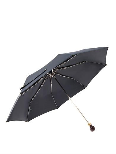 Alexander McQueen Resin skull-handle collapsible umbrella