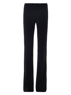 Bootcut tailored trousers