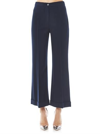 Alexander McQueen Crepe boot-cut tailored trousers