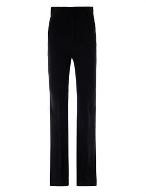 High-waisted bootcut crepe trousers