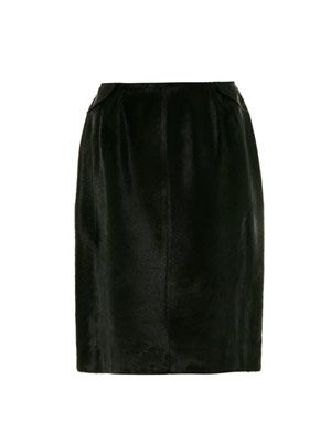 Pony hair pencil skirt